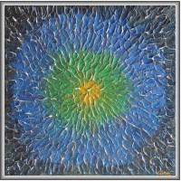 """Adieri...""- Tablou abstract20-0015 - Tablou unicat, pictat manual in original pe panza - Abstracte"