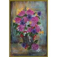 """tablou cu flori -""""Bulgarasi de primavara"""" tablou pictat manual pe pânză"""