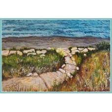 """""""Calea spre mare"""" -Tablou cu marea20-0201 - Tablou unicat, pictat manual in original pe panza - Peisaje"""