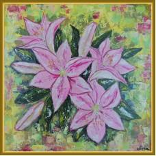 """""""Crini"""" - tablou cu flori regale"""