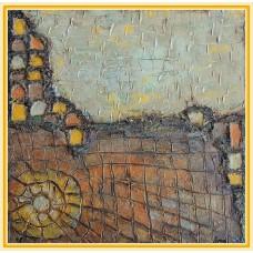 """Culorile toamnei""20-0121 - Tablou unicat, pictat manual in original pe panza - Abstracte"