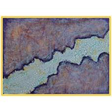 """Dezghet""20-0115 - Tablou unicat, pictat manual in original pe panza - Abstracte"