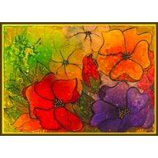 """""""Efervescenta culorilor"""" - tablou cu flori"""