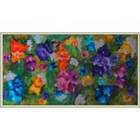 """Explozie florala"" - tablou cu flori20-0004 - Tablou unicat, pictat manual in original pe panza - Flori"