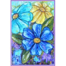"""""""Flori alintate de soare"""" - tablou cu flori"""