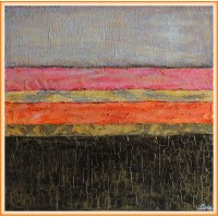 """Ganduri bune…""- tablou abstract20-0022 - Tablou unicat, pictat manual in original pe panza - Abstracte"