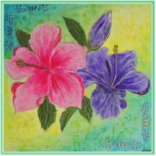 """""""Hibiscus"""" - tablou cu flori"""