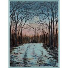 """""""Iarna pe uliță"""" - Peisaj de iarnă"""