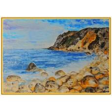 """""""Iubesc Marea!""""20-0228 - Tablou unicat, pictat manual in original pe panza - Peisaje"""