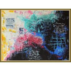 """Jazz"" - Tablou abstract20-0305 - Tablou unicat, pictat manual in original pe panza - Abstracte"