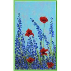 """""""Lumânărele mov"""" - Tablou cu flori"""