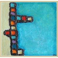 """tablou abstract - """"Nou început"""""""
