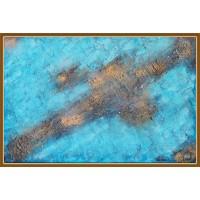 """O galaxie? Un ocean?""20-0196 - Tablou unicat, pictat manual in original pe panza - Abstracte"