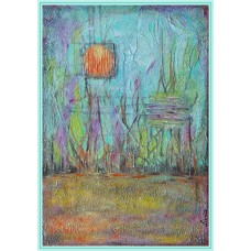 """O zi de primavara""20-0118 - Tablou unicat, pictat manual in original pe panza - Abstracte"