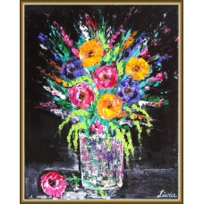 """""""Optimism"""" - Tablou cu flori în glastră"""