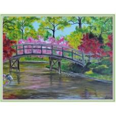 """""""Primavara in parc"""" - tablou peisaj"""