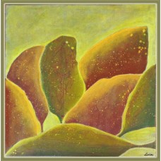 Tablou pictat manual in culori de toamna