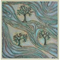 """""""Vâltorile vieții""""- tablou compoziție realizat manual"""
