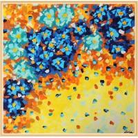 """""""Vartej  de petale"""" -Tablou cu flori20-0240 - Tablou unicat, pictat manual in original pe panza - Flori"""