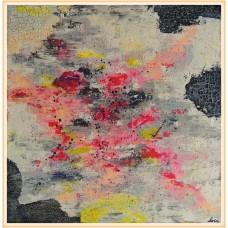 """Vechi și ...roz"" - tablou abstract20-0022 - Tablou unicat, pictat manual in original pe panza - Abstracte"