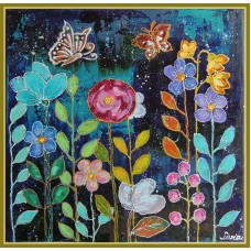 """Tablou cu flori - """"Gradina vesela"""""""