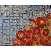 Buchet de trandafiri. Tablou abstract
