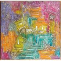 "Tablou abstract - ""Amalgam"""