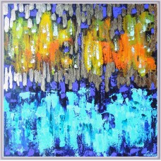 """Apa si foc"" - tablou abstract"