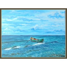 'Asteptare' - Tablou Peisaj cu Marea