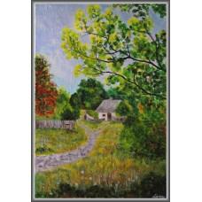 Bojdeuca21-0948 - Tablou unicat, pictat manual in original pe panza - Peisaje