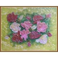 tablou cu flori - Buchet de roze