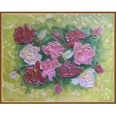 Buchet de roze - tablou cu flori