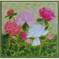 Bujori - Tablou cu flori