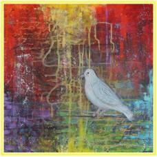 Carta pacii21-0683 - Tablou unicat, pictat manual in original pe panza - Compozitii