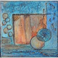 Tablou Ceva albastru, ceva vechi. Tablou abstract