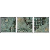 Contraste este un tablou abstract, modern, realizat manual cu pasta de structura si alte elemente