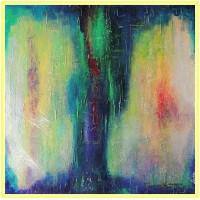 Dansul viorilor21-0923 - Tablou unicat, pictat manual in original pe panza - Abstracte