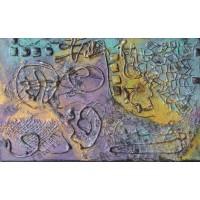 tablou abstract, unicat, pictat manual pe panza
