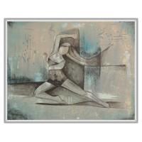 Eleganta miscarii tablou compozitie pictat manual