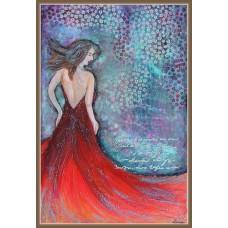 'Fata cu parul verde' - tablou compozitie