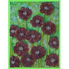 Flori de ciocolata21-0611 - Tablou unicat, pictat manual in original pe panza - Flori