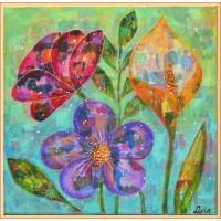 'Flori peticite cu culori'- tablou cu flori