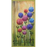 Pictură pe pânză tablou cu flori, pictat manual, unicat.