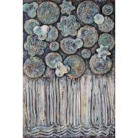 Florile Nopții - Tablou cu flori, unicat, pictat manual pe panza