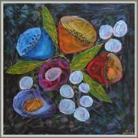 tablou cu flori - 'Florile noptii'