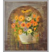 Gălbenele - Tablou cu flori, unicat, pictat manual pe panza