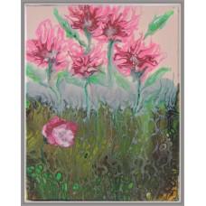 Gradina cu flori roz