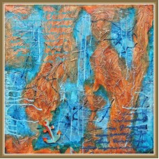 """Harta a unor tinuturi indepartate…"" - tablou abstract"