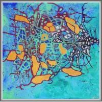 Hazard21-0729 - Tablou unicat, pictat manual in original pe panza - Abstracte