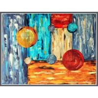 In cautarea echilibrului20-0367 - Tablou unicat, pictat manual in original pe panza - Abstracte